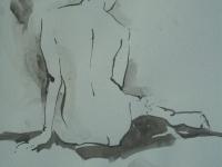 chloe ink line drawing