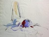 nude sketches line wash